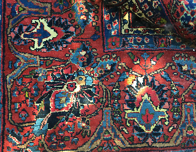 Vintage Authentic Hand Made Persian Carpet,