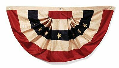Tea Stained American Flag Bunting Display Stars And Stripes On Holidays Or All -