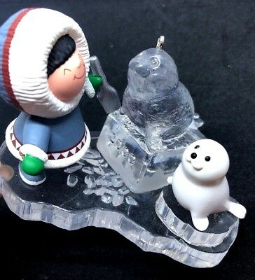 Frosty Friends Hallmark Ornament #21 Eskimo Ice Carving Seal by Ed Seale