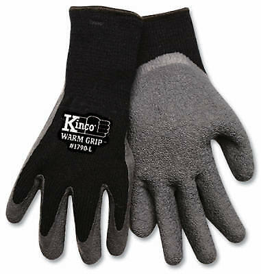 Large Men's Cold-Weather Latex-Coated Knit Gloves