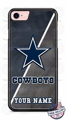 Dallas Cowboys Blue Gray Logo with name Phone Case for iPhone X 8 Samsung etc