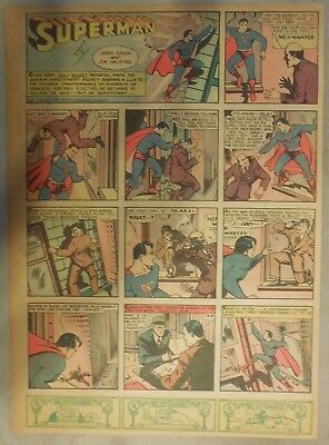 Superman Sunday Page #10 by Siegel & Shuster from 1/7/1940 Tab Page: Year #1!
