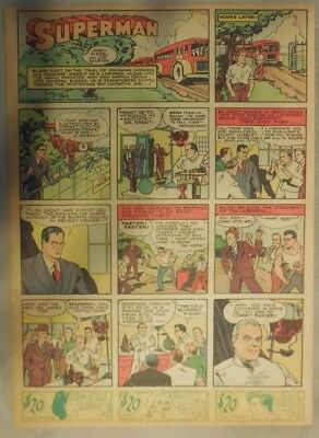 Superman Sunday Page #12 by Siegel & Shuster from 1/21/1940 Tab Page: Year #1!