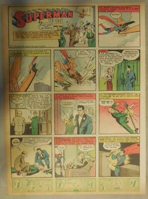 Superman Sunday Page #27 by Siegel & Shuster from 5/5/1940 Tab Page: Year #1!