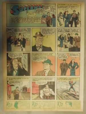 Superman Sunday Page #40 by Siegel & Shuster from 8/4/1940 Tab Page: Year #1!
