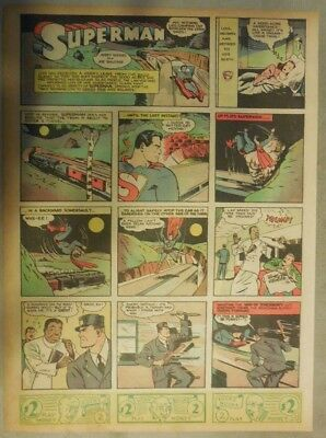 Superman Sunday Page #41 by Siegel & Shuster from 8/11/1940 Tab Page: Year #1!