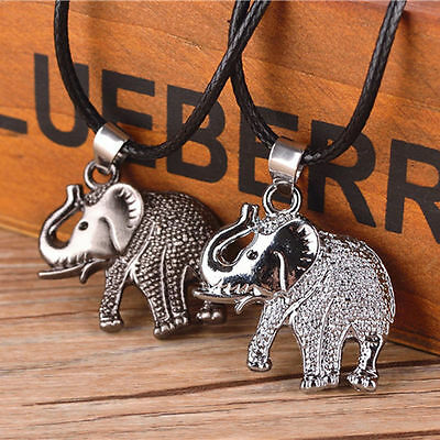 Fashion Unisex's Stainless Steel Elephant Pendant Chain Necklace Jewelry Gift