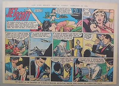 Jett Scott Page by Jerry Robinson & Sheldon Stark from 2/14/1954 Half Page Size!