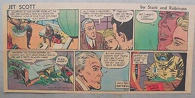 Jett Scott Page by Jerry Robinson, Sheldon Stark from 4/17/1955 Third Page Size!