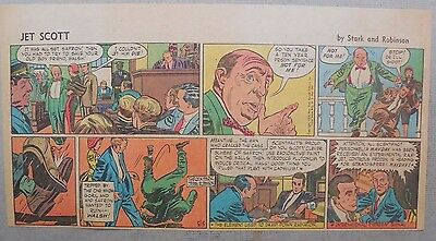 Jett Scott Page by Jerry Robinson, Sheldon Stark from 5/15/1955 Third Page Size!
