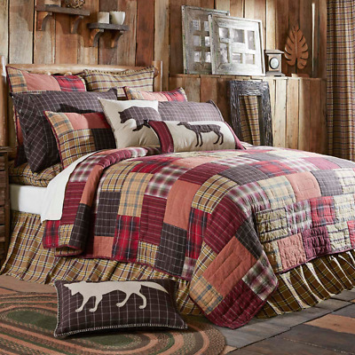 Wyatt Patchwork Cotton Quilted California King Rustic Country Cottage Quilt