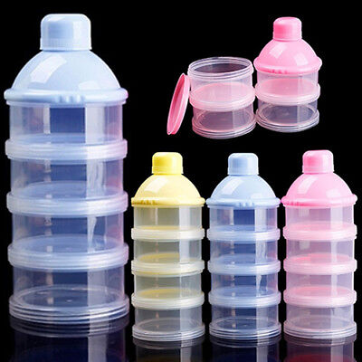 4 Layers Baby Formula Milk Powder Dispenser Bottle Food Storage Container tall