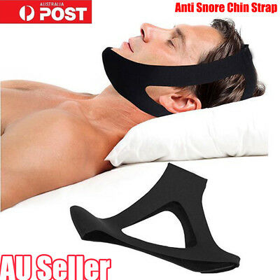 Anti Snore AntiSnore Chin Strap Stop Snoring Solution Chin Support Sleep Belt JW