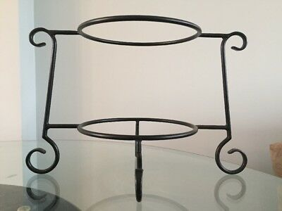 Southern Living at Home Ornate Iron Two Tiered Stand #41145 Plates Rack