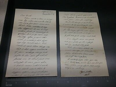 Rare WWII Letter from feuding Brothers (Buck & Paul)  Hampstead NH 1944