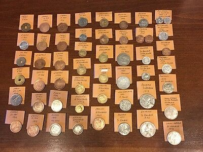 Foreign Coin collection, France, GB, Germany & More. Silver. See List and Pix