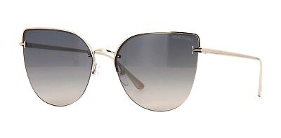 e99b6b2298 Tom Ford INGRID-02 FT 0652 Rose Gold Grey Beige Shaded Mirror (28B