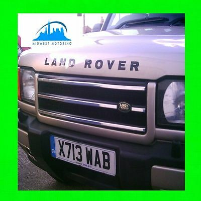1999 2000 2001 2002 Land Rover Discovery 2 Ii Chrome Grille Grill Trim 5Yr Wrnty
