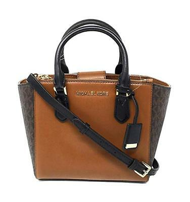 4da0b0849f61 Michael Kors Women s Carolyn Small Leather Tote MK Crossbody Bag Purse  Handbag