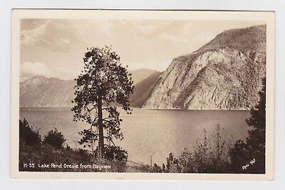 RPPC, Idaho, Lake Pend Oreille From Bayview, Ross Hill Photo