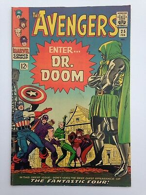 The Avengers 25 Comic Book 1965