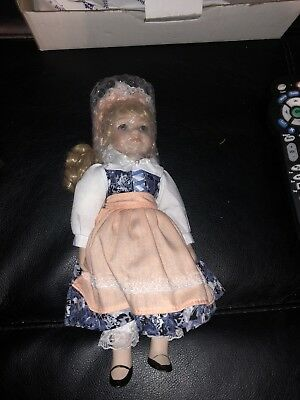 "Kirsi Finland Royalton Collection Porcelain Doll 10"" Bisque Porcelain Hand-Paint"