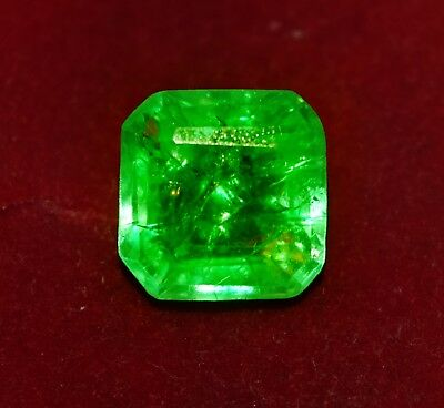 9.50 Cts Natural Green Emerald Emerald Shape Zambian GGL Certified Gem