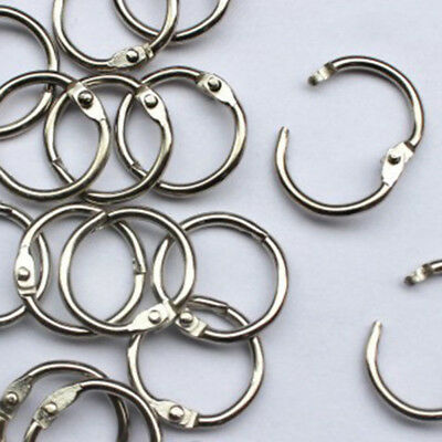 10Pcs Metal Hinged Ring Book Ring Binder Scrapbook Craft Supply 15-80mm