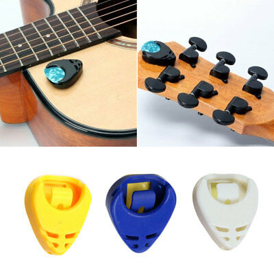 5* Guitar Pick Plectrum Plec Holder Self-adhesive Portable Pickholder Pic-pols.