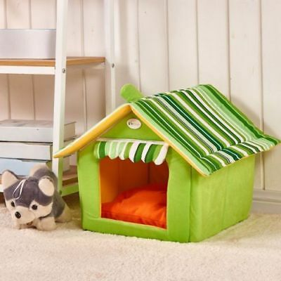 Striped Deluxe Soft Washable Dog Pet Warm Basket Bed Cushion Removable Cover