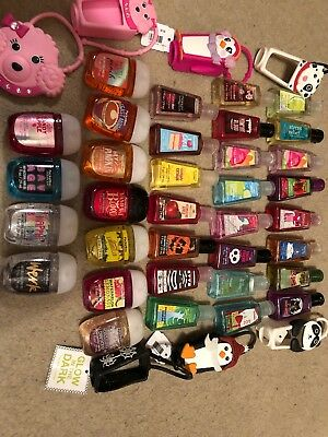 Bath And Body Works PocketBac Lot Of 34 + 6 Holder And Matching Poodle Mirror