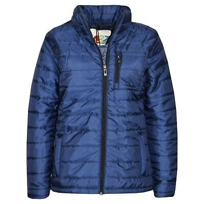 Kids Boys Jackets Foam Padded Navy Puffa School Warm Thick Jacket Coats 3-13 Yrs