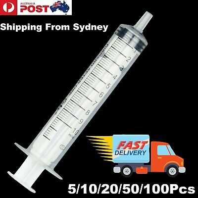 UP 100x 10ml Hydroponics Nutrient Sterile Slip Tip Disposable Measuring Syringe