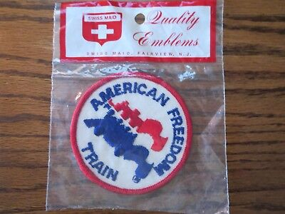 1976 American Freedom Train Patch Bicentennial Rare Vintage Original Packaging