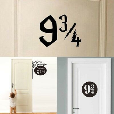 Harry Potter 9 3/4 Platform Door Decals Vinyl Wall Sticker For Kids Room Decor