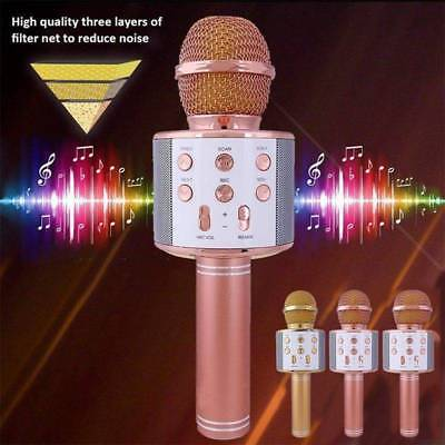 Bluetooth Wireless Microfono Karaoke Mic altoparlante portatile KTV Player USB
