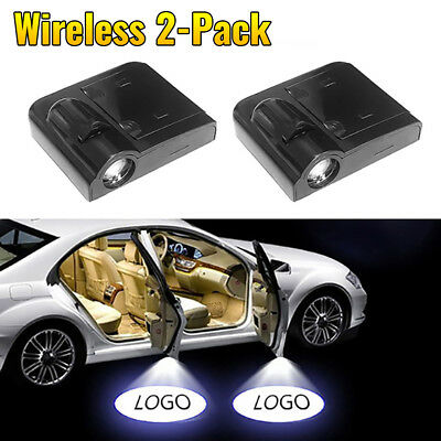 2PCS Wireless Car LED Door Welcome Laser Projector Logo Ghost Shadow light UK