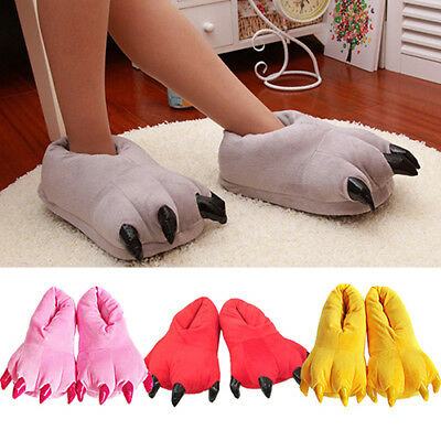 Winter Animal Paw Claw Slippers Men Women Children Cartoon Cute Warm Shoes Supre