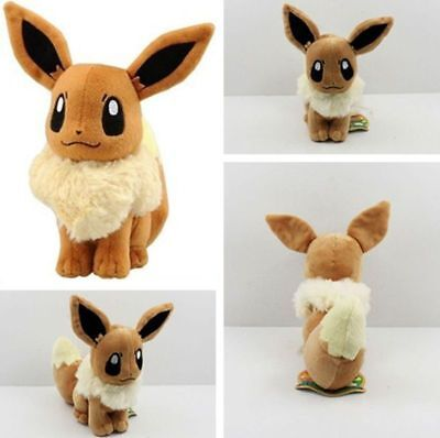 8'' Pokemon Pocket Monster Eevee Plush Toys Soft Stuffed Doll Kids Xams Gift