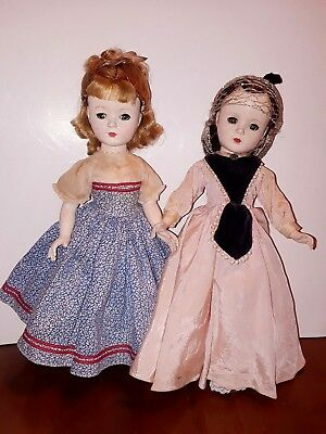 Vintage lot of 2 Madame Alexander Little Women Dolls Marme Beth for Repair