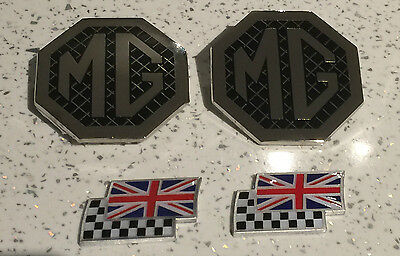 MG ZR mk1 badge upgrade front grille, rear & 2 chequerred and union jack flags