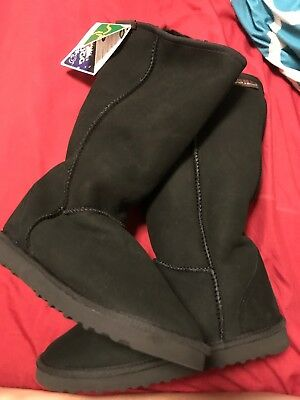 Ugg Boots Short, Synthetic Wool, Colour BLACK, Size 10 Lady's / Size 8 Men's New