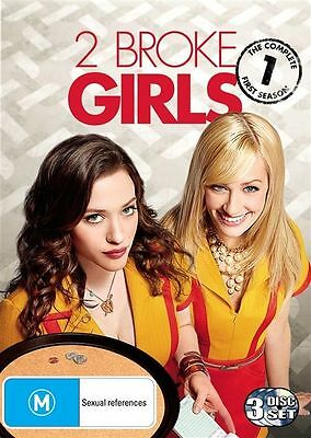 2 Broke Girls : Season 1 (DVD, 3-Disc Set) R-4-LIKE NEW-FREE POST IN AUSTRALIA