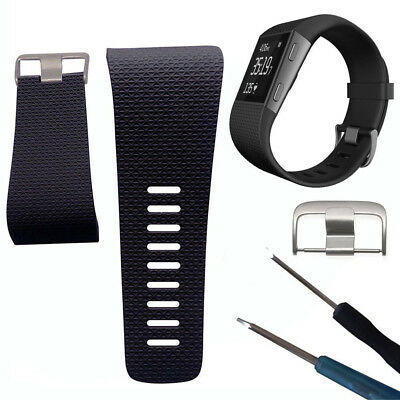 Soft Silicone Replacement Watch Band Strap with Buckle Tool for Fitbit Surge Hot