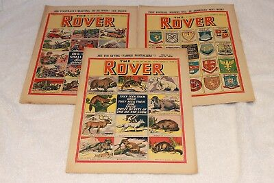 "3  "" The  Rover  Comics ""...1951...full  Strong  Spines...nice + Clean...lot  4"