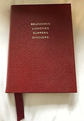 Smythson Notebook - Brunches, Lunches, Suppers, Dinners