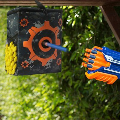 Target Bag with 2X Hooks for Nerf Gun Sniper For N-strike Elite / Mega / Rival