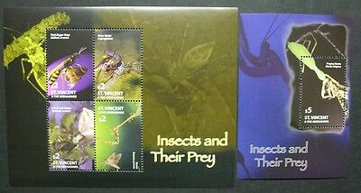 St. Vincent 2005 Insekten Spinnen Insects Spiders 6170-6173 Block 651 MNH