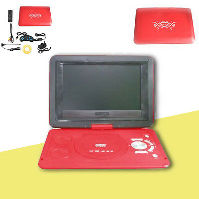 "13.9"" Screen HD TV Portable DVD EVD Player 16:9 LCD 270° Swivel 110-240V RED"