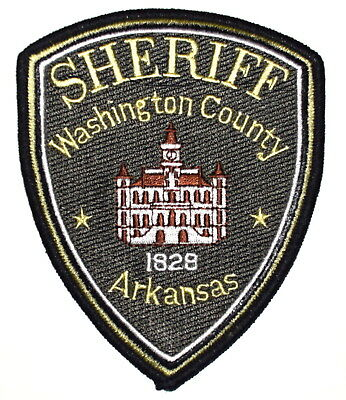 WASHINGTON COUNTY ARKANSAS AR Sheriff Police Patch COURTHOUSE CLOCK TOWER~